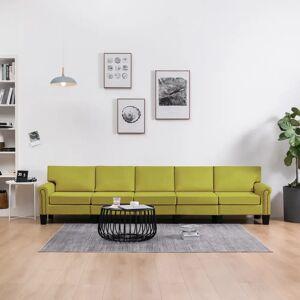 vidaXL 5-personers sofa stof grøn