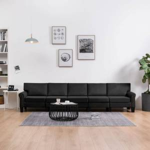 vidaXL 5-personers sofa stof sort