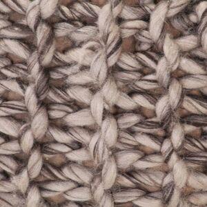 vidaXL håndstrikket puf 50x35 cm uld-look stof lysegrå