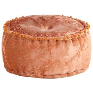 vidaXL rund puf 40x20 cm fløjl rustrød