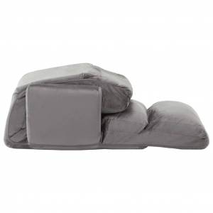 vidaXL sovesofa med armlæn stof grå