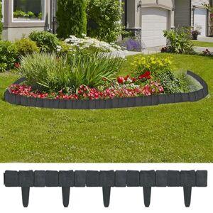 vidaXL 40917 Plastik egn til haven/plænen, stenlook, 10 m