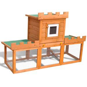 vidaXL udendørs kaninbur stort 1 hus