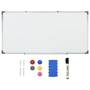 vidaXL magnetisk whiteboard 120x60 cm stål hvid