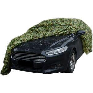 vidaXL kamuflagenet med opbevaringspose, 4x6 m