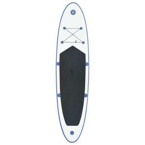 vidaXL oppusteligt standup-paddleboardsæt blå og hvid