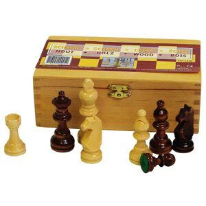 Abbey Game skakbrikker 87 mm sort/hvid 49CL
