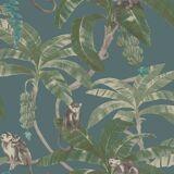 DUTCH WALLCOVERINGS tapet Monkey Puzzle grøn
