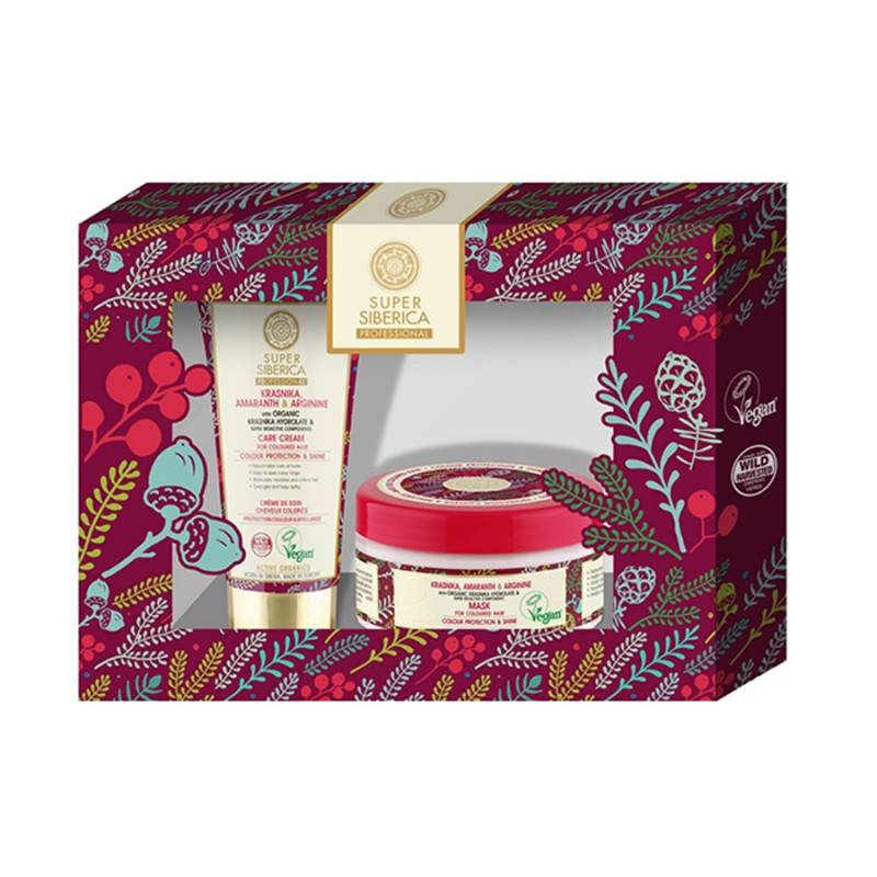 Super Siberica Colour Protection & Shine Gift Set 50 ml + 300 ml Gaveæske