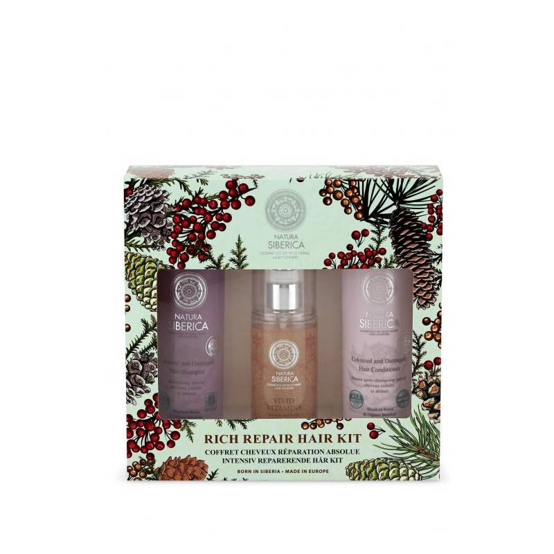 Rich Repair Hair Kit Shampoo & Balsam & Hair Mask 2 x 250 ml + 125 ml Gaveæske