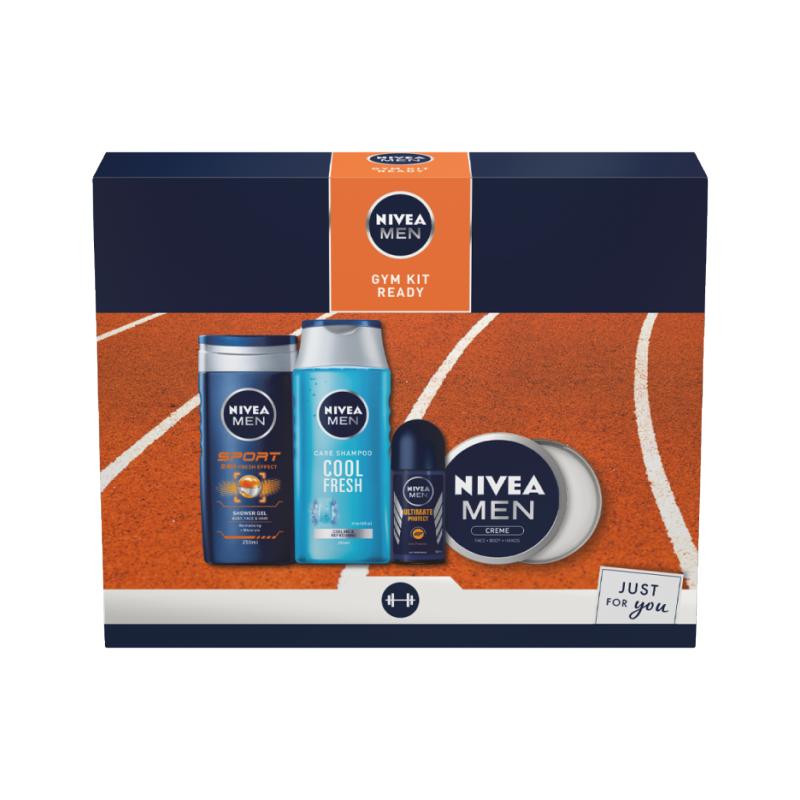 Men Gym Kit Ready Gift Set 2 x 250 ml + 150 ml + 50 ml Gaveæske