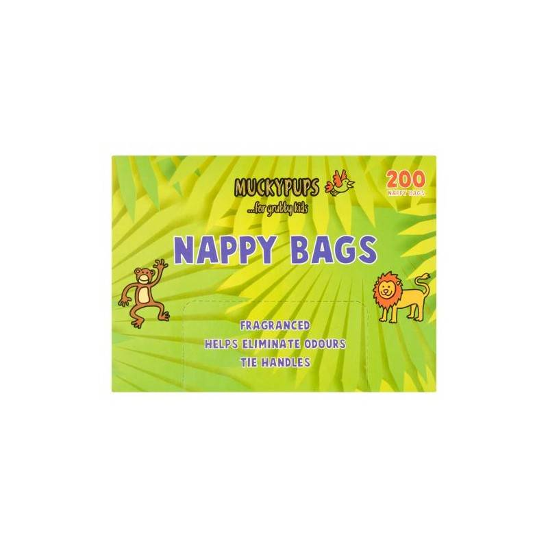 Muckypups Nappy Bags 200 stk Baby Tilbehør