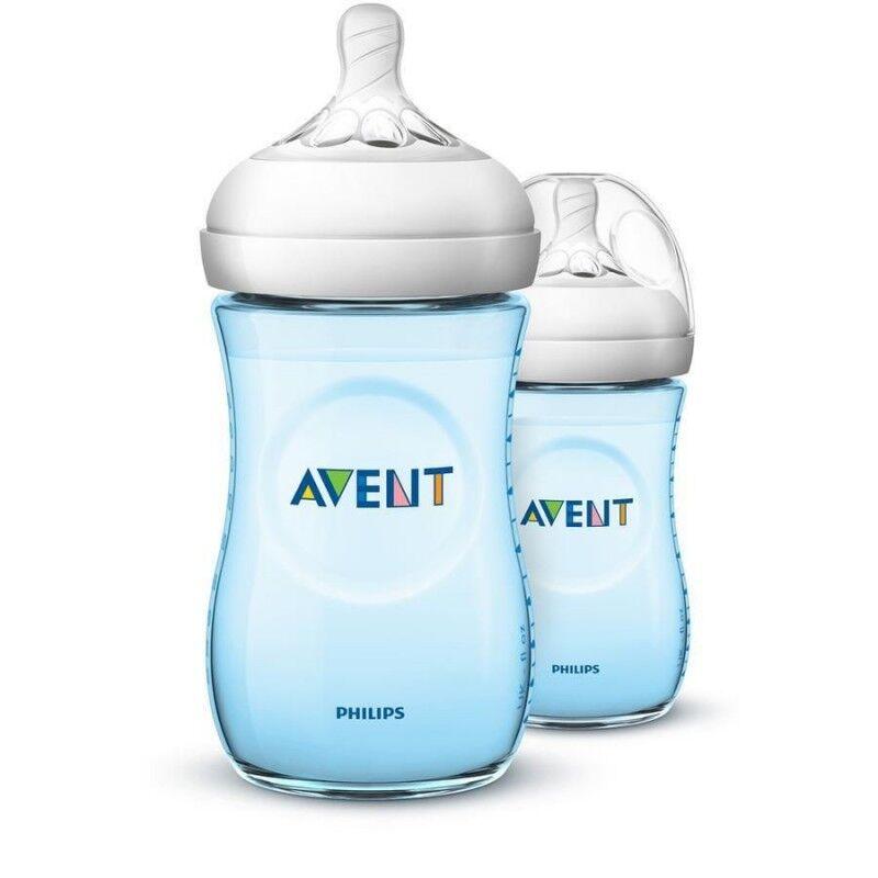 Natural Bottle 2.0 Blue Duo 2 x 260 ml Baby Tilbehør