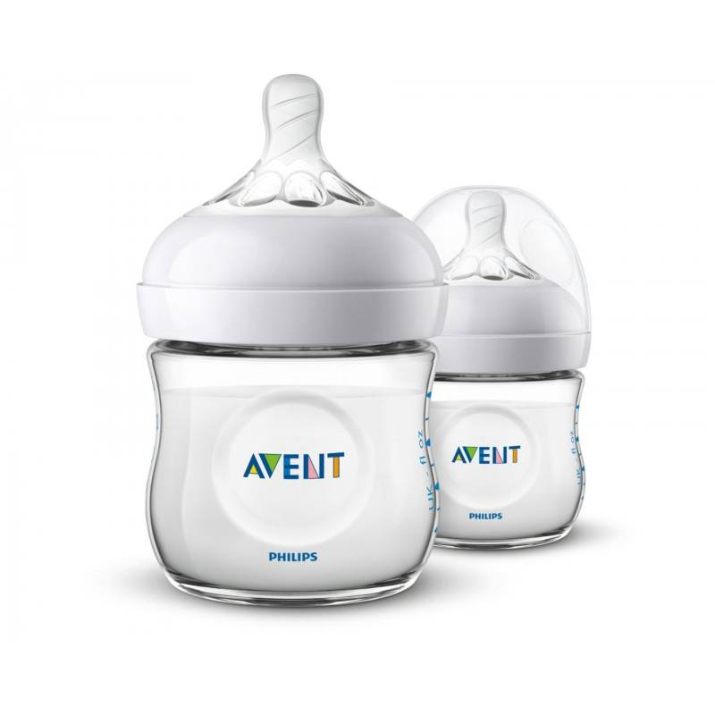 Natural Bottle 2.0 Duo 2 x 125 ml Baby Tilbehør
