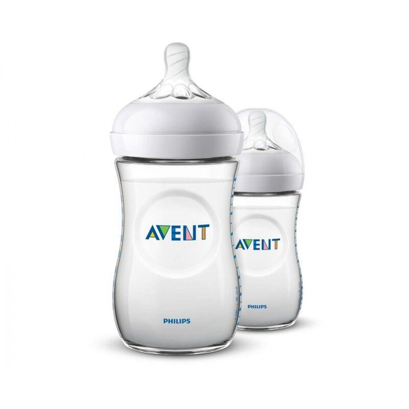 Natural Bottle 2.0 Duo 2 x 260 ml Baby Tilbehør