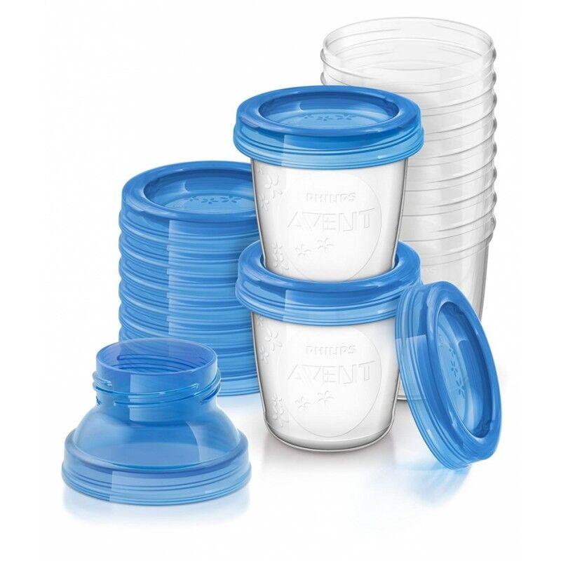 Breast Milk Storage Cups 10 x 180 ml Baby Tilbehør