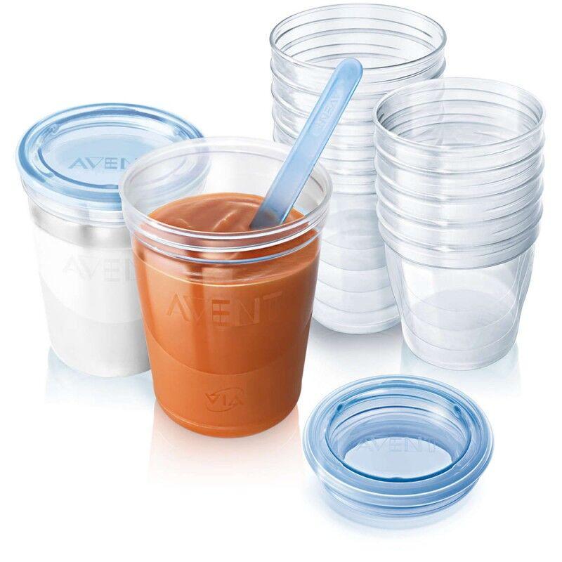 Food Storage Cups 10 x 180 ml + 10 x 240 ml Baby Tilbehør