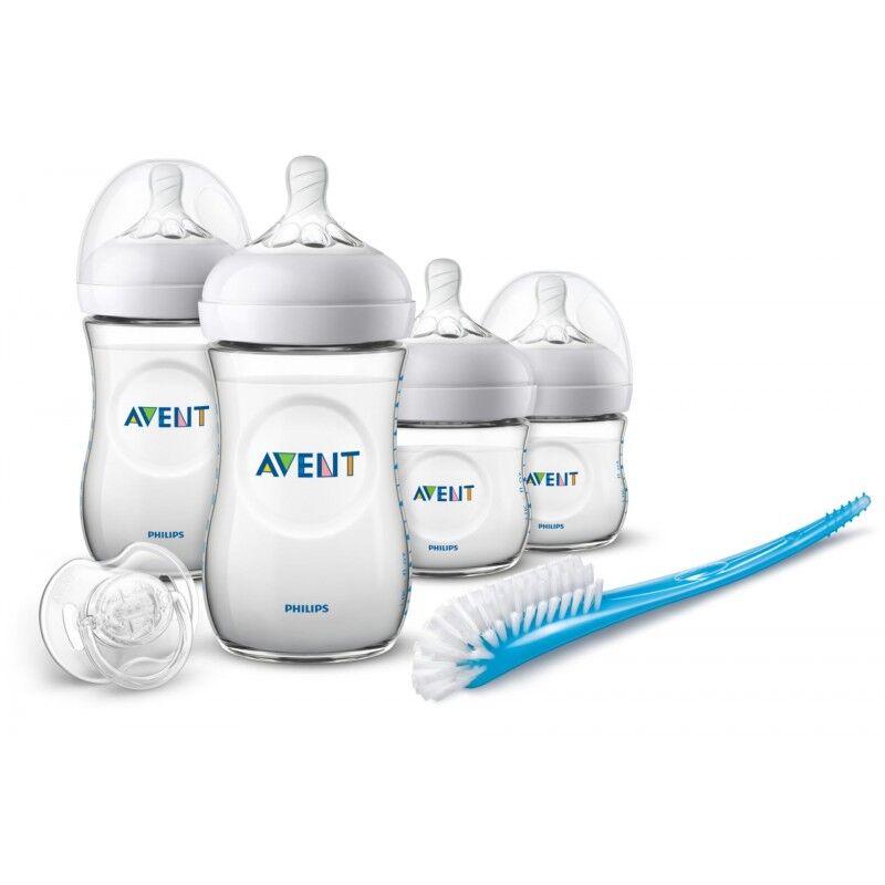Natural Newborn Starter Gift Set Blue 6 stk Baby Tilbehør