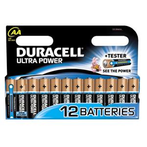 AA Ultra Power 12 stk Batterier