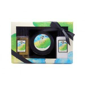 W7 Ocean Spice Sea Salt & Sage Bath & Body Set 2 x 250 ml + 230 ml Gaveæske