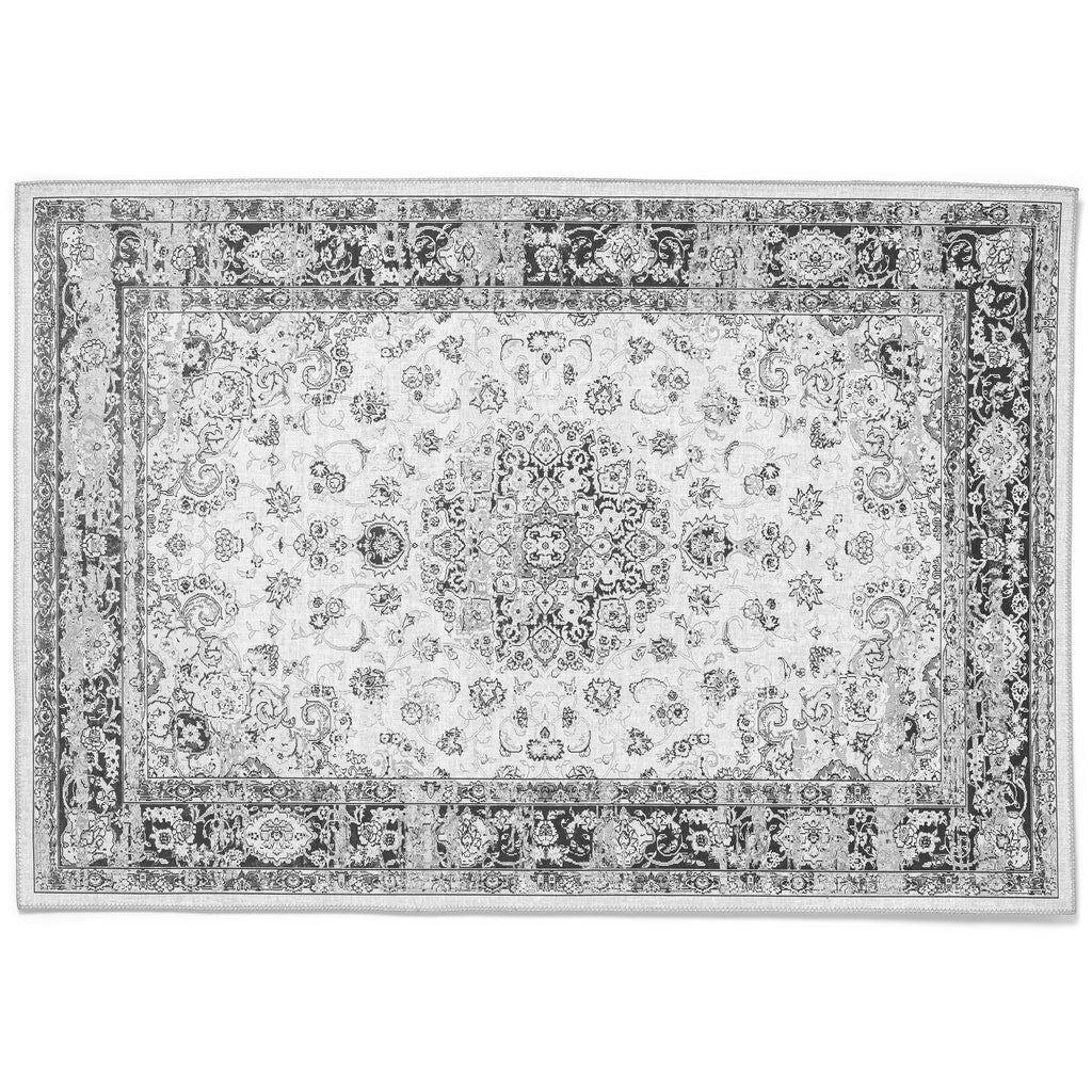 Nimara.dk Sika - Gulvtæppe med sort/gråt/hvidt mønster 300 x 200