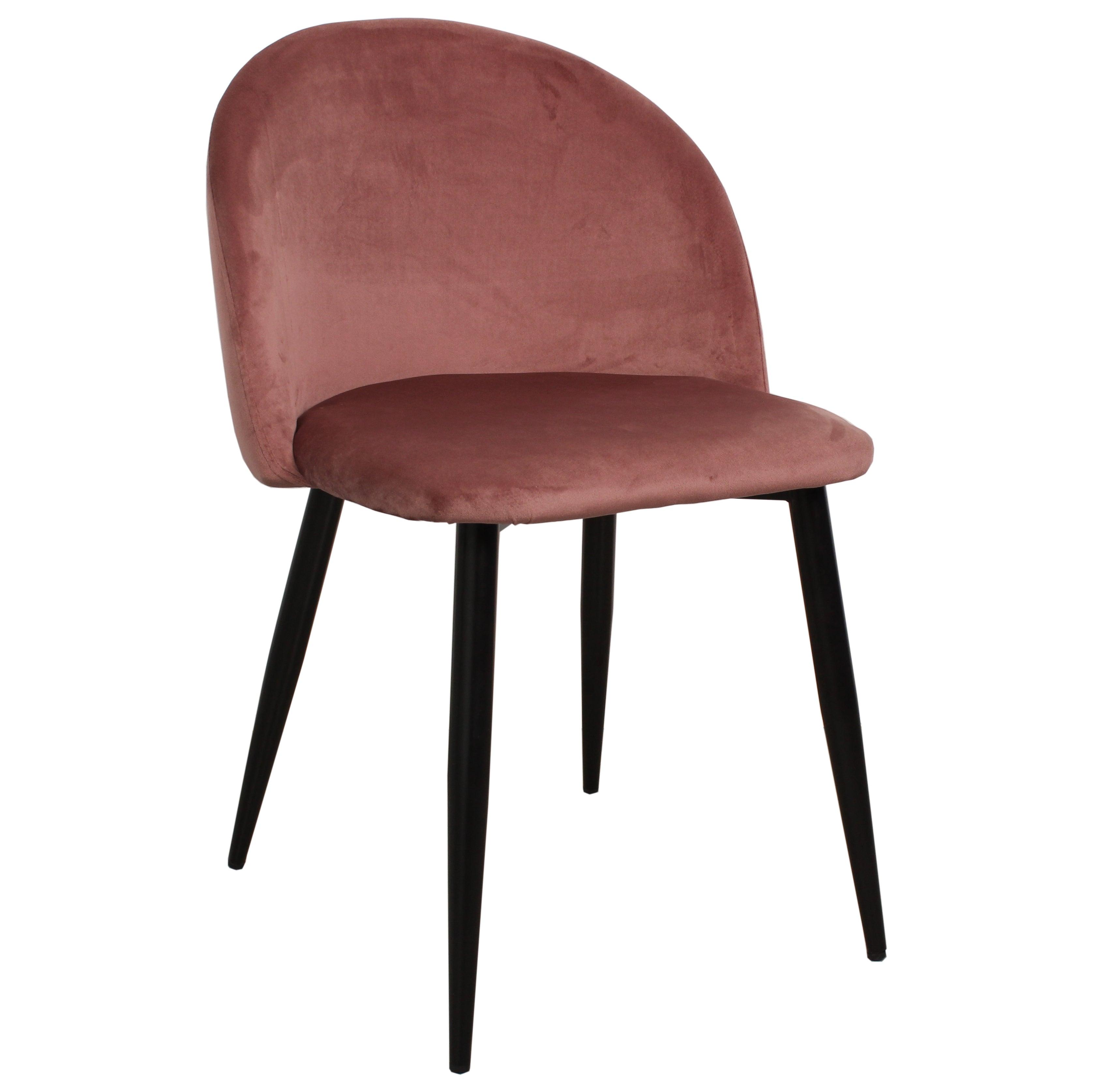 Nimara.dk Alice - Polstret velour stol i rosa
