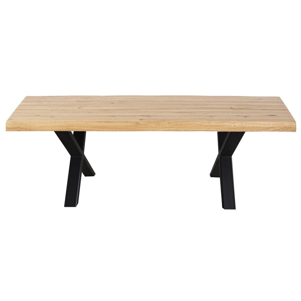 Nimara.dk Torino - Sofabord Plankebord i olieret egetræ 120 cm