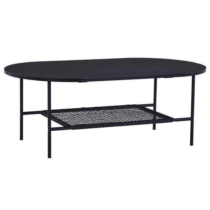 Nimara.dk Felix sort sofabord med hylde 120 cm