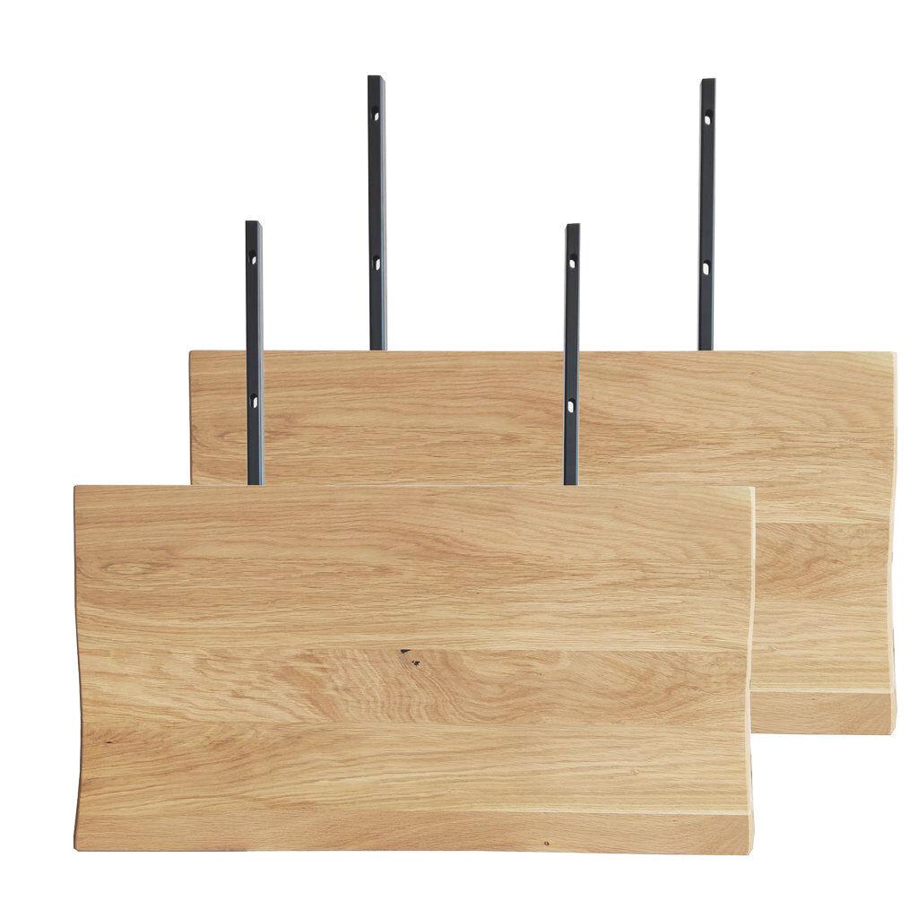 Nimara.dk Torino - Tillægsplader (2 stk) til plankebord - Olieret egetræ