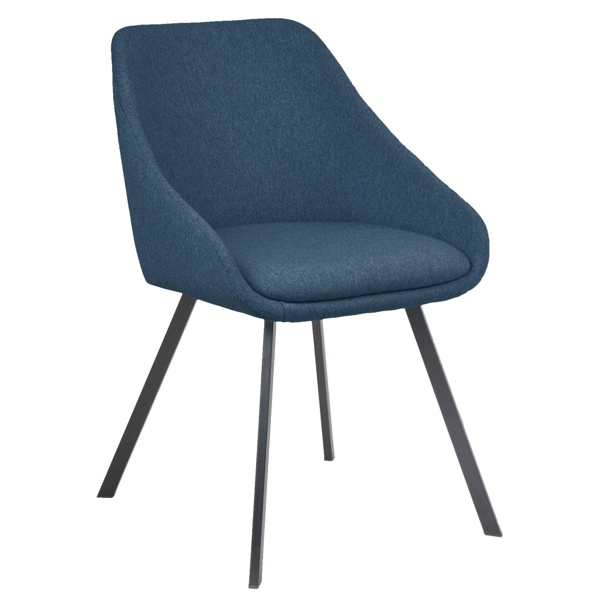 Nimara.dk Layla - Blå Polstret Spisebordsstol