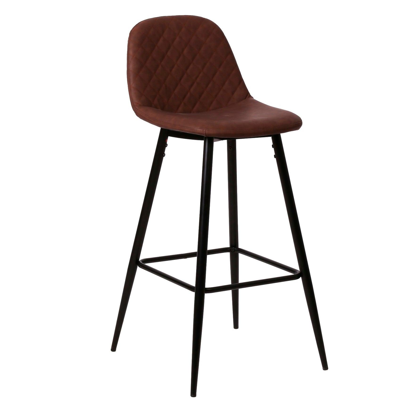 Nimara.dk Elba - Brun kunstlæder barstol 65 cm (Barstol til køkken)