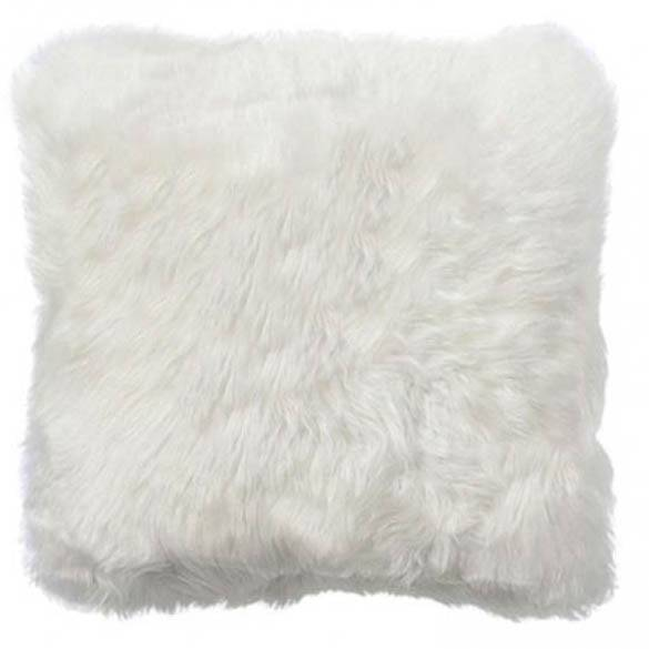 Nimara.dk Hvid lammeskindspude Kvadratisk 45*45 cm - New Zealand