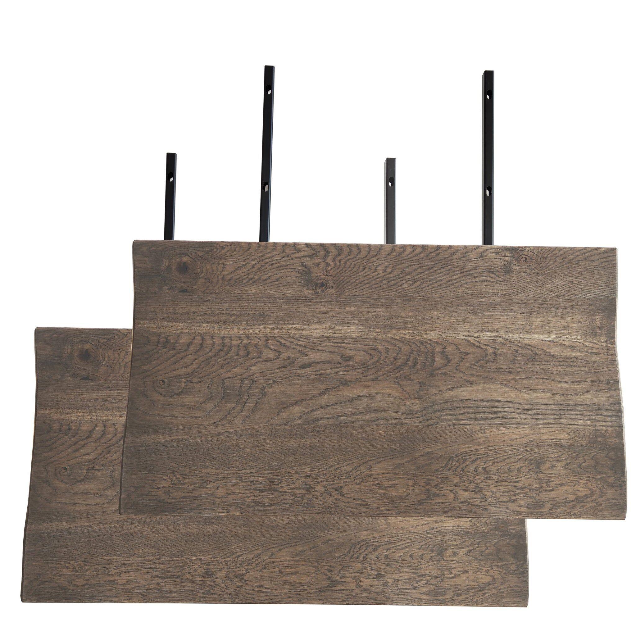 Nimara.dk Tillægsplader (2 Stk) Til Torino Plankebord - Smoked Olieret Egetræ