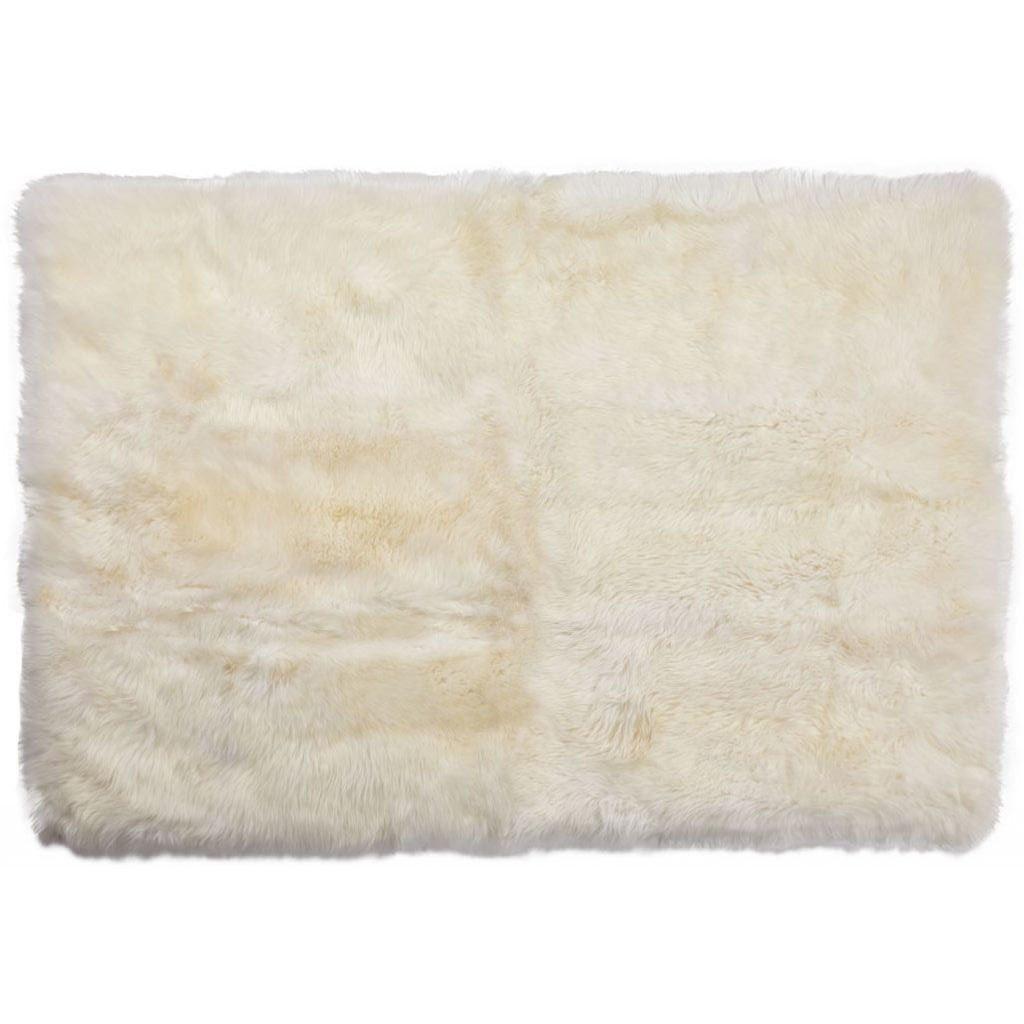 Nimara.dk Lammeskindstæppe i hvid 120x180 cm - New Zealand