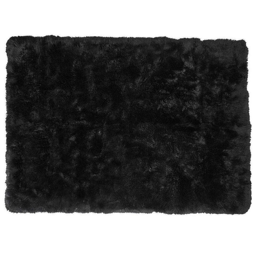 Nimara.dk Lammeskindstæppe i sort 120x180 cm - New Zealand