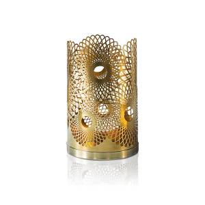 Skultuna Feather Candle Holder Brass men One size Guld
