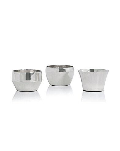 Skultuna Kin Polished Steel Set of Three men One size Sølv
