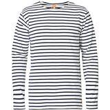 Armor-lux Houat Héritage Stripe Longsleeve T-shirt White/Navy men XXL Hvid