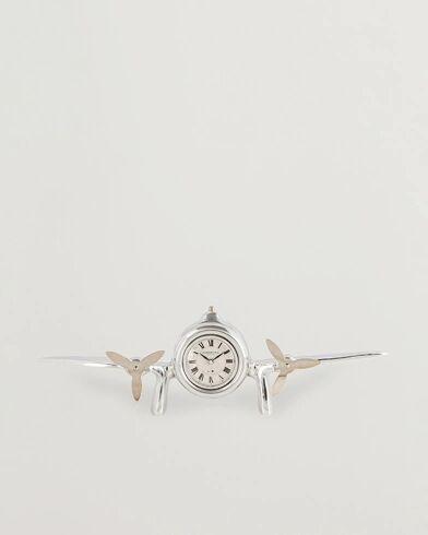 Authentic Models Art Deco Flight Clock Silver men One size Sølv