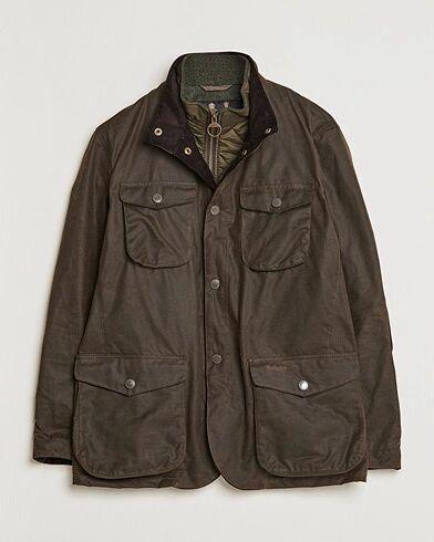 Barbour Lifestyle Ogston Waxed Jacket Olive men L Grøn