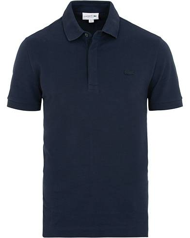 Lacoste Tonal Crocodile Poloshirt Regular Fit Navy men 4 - M Blå