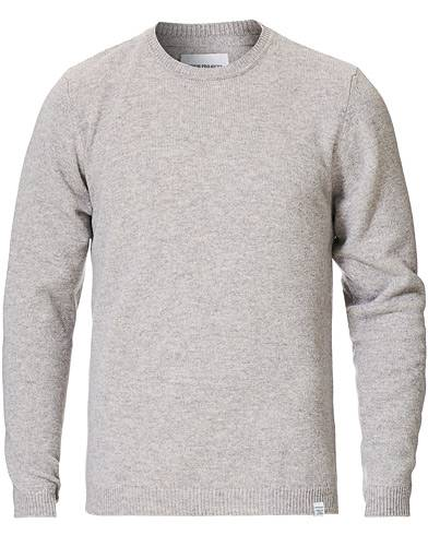 Norse Projects Sigfred Lambswool Light Grey Melange men S Grå