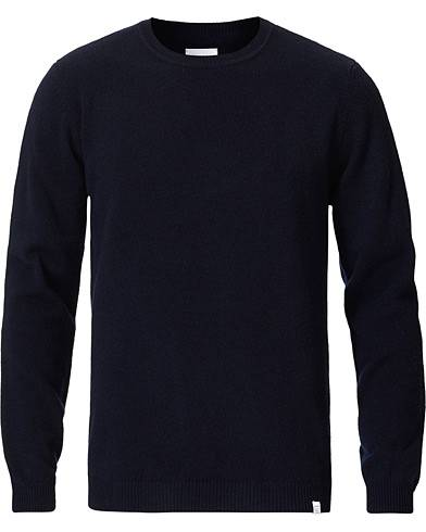 Norse Projects Sigfred Lambswool Dark Navy men S Blå