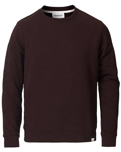 Norse Projects Vagn Classic Crew Sweatshirt Eggplant Brown men XL Brun