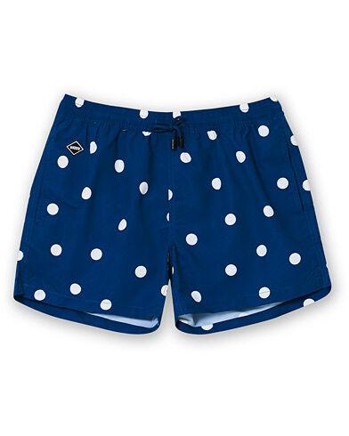 NIKBEN Dot Printed Swim Shorts Denim Blue men L Blå