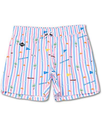 NIKBEN Azur Printed Swim Shorts Striped men M Pink