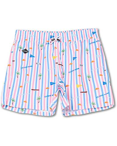 NIKBEN Azur Printed Swim Shorts Striped men L Pink