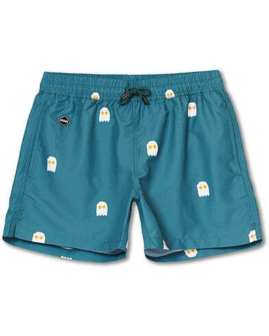 NIKBEN Eggman Printed Swim Shorts Green men M Grøn