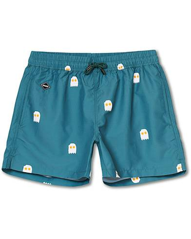 NIKBEN Eggman Printed Swim Shorts Green men S Grøn