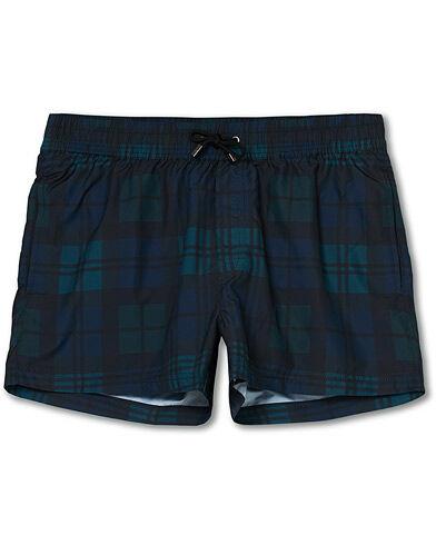 NIKBEN Studio Black Watch Swim Shorts Black/Blue men XL Grøn